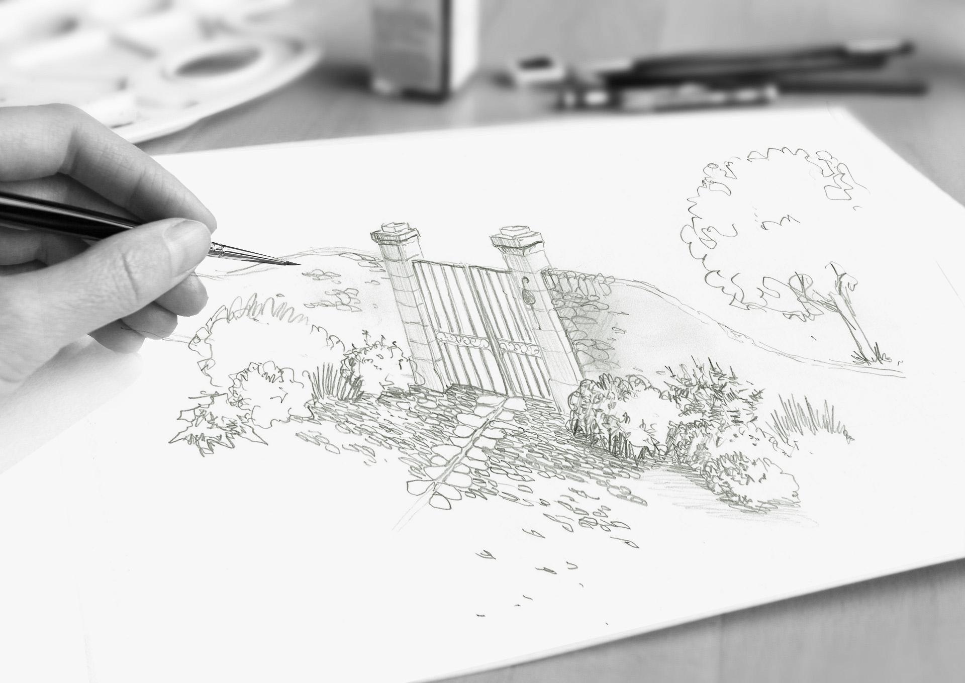 Projet jardin Lubéron Franlieu